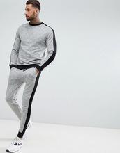 ASOS   Спортивный свитшот и джоггеры скинни с черной полосой ASOS DESIGN   Clouty