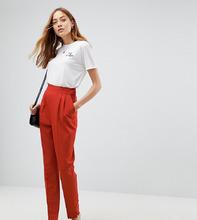ASOS | Суженные книзу брюки с завышенной талией ASOS TALL - Коричневый | Clouty