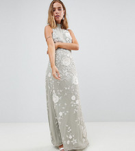 Frock And Frill | Декорированное платье макси с высокой горловиной Frock And Frill Petit | Clouty