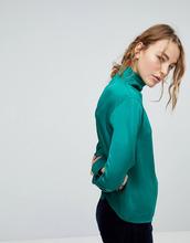 Weekday | Блузка с высоким воротом Weekday - Зеленый | Clouty