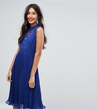 ASOS   Платье миди без рукавов с кружевной вставкой ASOS TALL - Красный   Clouty