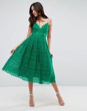 ASOS | Кружевное платье миди для выпускного ASOS - Зеленый | Clouty