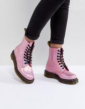Dr. Martens | Розовые кожаные ботинки со шнуровкой Dr.Martens - Розовый | Clouty