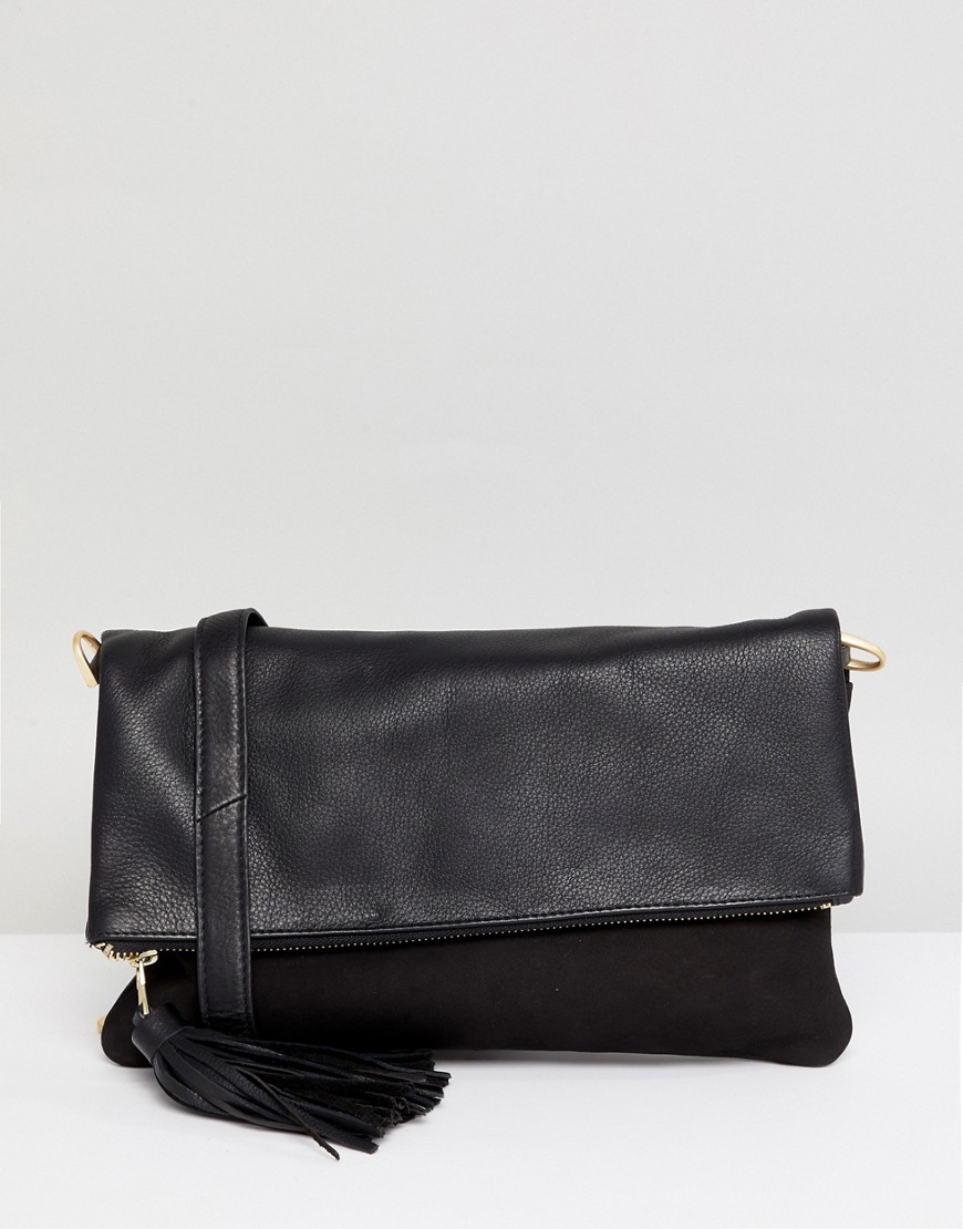 Urbancode   Кожаная сумка через плечо Urbancode - Черный   Clouty