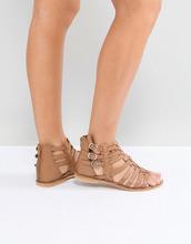 ASOS | Кожаные сандалии-гладиаторы ASOS FOZ - Рыжий | Clouty