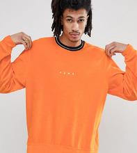 Puma   Оранжевый бархатный свитшот с круглым вырезом Puma эксклюзивно для ASO   Clouty