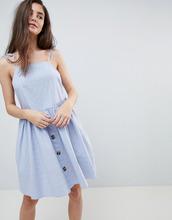 ASOS | Свободное платье мини в стиле casual с пуговицами ASOS - Синий | Clouty