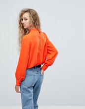 Love | Черная блузка на пуговицах Love - Оранжевый | Clouty