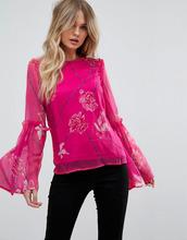 VERO MODA | Блузка с расклешенными рукавами Vero Moda - Фиолетовый | Clouty