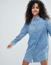 Monki   Джинсовое платье-рубашка Monki - Синий   Clouty