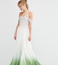 ASOS   Платье макси с драпировками и эффектом омбре ASOS TALL SALON - Мульти   Clouty