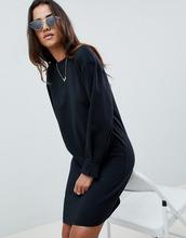 ASOS | Трикотажное платье со складками на манжетах ASOS DESIGN - Черный | Clouty