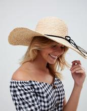 ASOS | Соломенная шляпа с широкими полями ASOS - Коричневый | Clouty