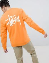 Stussy | Оранжевый свитшот с логотипом на спине Stussy - Оранжевый | Clouty
