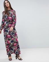 Vila | Платье макси с цветочным принтом Vila - Мульти | Clouty