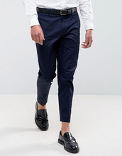 ASOS | Темно-синие укороченные брюки скинни ASOS - Темно-синий | Clouty