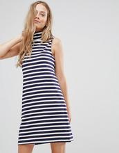 Vila | Платье в полоску с высоким воротом Vila - Мульти | Clouty