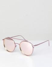 ASOS | Розовые круглые солнцезащитные очки со стеклами цвета розоовго золота | Clouty