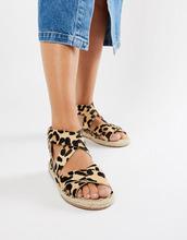ASOS | Кожаные сандалии-эспадрильи ASOS DESIGN Jose - Мульти | Clouty