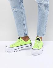 CONVERSE | Зеленые кроссовки на платформе с ребристой подошвой Converse - Зеленый | Clouty