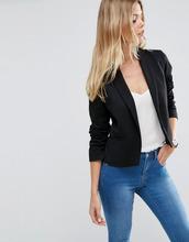 ASOS | Пиджак из ткани понте с шалевым воротником ASOS - Черный | Clouty
