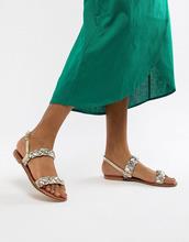 ASOS | Кожаные плетеные сандалии ASOS DESIGN Frenchie - Мульти | Clouty