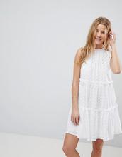 ASOS | Платье-трапеция мини без рукавов с вышивкой ришелье ASOS - Белый | Clouty