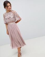 ASOS | Декорированное платье миди с кроп-топом и фигурным краем ASOS DESIGN | Clouty