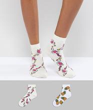 ASOS | 2 пары носков ASOS DESIGN - Мульти | Clouty