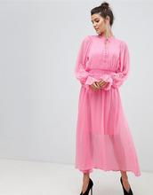Y.A.S.   Платье макси в горошек с завязкой Y.A.S - Розовый   Clouty