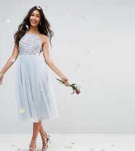 ASOS | Декорированное платье миди с бретельками на спине ASOS DESIGN Tall Bri | Clouty