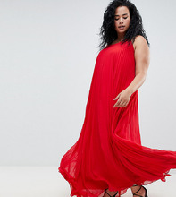 Missguided | Плиссированное платье макси Missguided Plus - Красный | Clouty