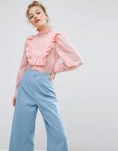 ASOS | Рубашка с рюшами на груди ASOS - Розовый | Clouty