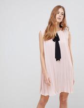 Vila | Платье с контрастным бантом Vila - Розовый | Clouty