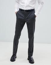 Selected Homme | Узкие серые брюки в клетку Selected Homme - Темно-синий | Clouty