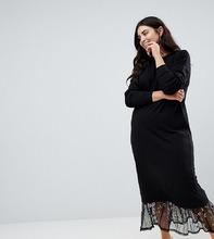 ASOS   Трикотажное платье макси с вышивкой на подоле ASOS DESIGN Curve   Clouty