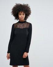 Vila | Платье с кружевной отделкой Vila - Черный | Clouty