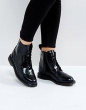 Dr. Martens | Черные ботильоны-броги со шнуровкой Dr Martens - Черный | Clouty