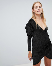 Boohoo | Платье мини на одно плечо с запахом Boohoo - Мульти | Clouty