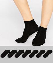 ASOS | 7 пар спортивных носков ASOS DESIGN - Черный | Clouty