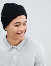 Selected Homme | Шапка-бини из 100% мериносовой шерсти Selected Homme - Черный | Clouty