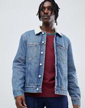 Calvin Klein Jeans | Джинсовая куртка с подкладкой из искусственного меха Calvin Klein Jeans - Синий | Clouty