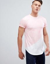 Hollister | Розовая футболка с закругленным краем и логотипом Hollister - Розовый | Clouty