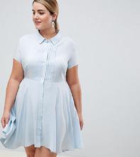 Unique 21 | Платье-рубашка с короткими рукавами и пышной юбкой Unique 21 hero plus - Синий | Clouty