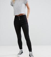 New Look | Джинсы скинни с завышенной талией New Look Petite - Черный | Clouty