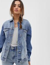 ASOS   Синяя выбеленная джинсовая куртка ASOS DESIGN - Синий   Clouty