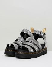 Dr. Martens | Серебристые сандалии с ремешками Dr.Martens Blaire Vegan - Серебряный | Clouty