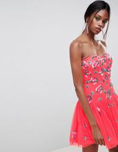 ASOS | Платье мини бандо из тюля ASOS EDITION - Розовый | Clouty