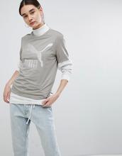 Puma | Серая футболка бойфренда с логотипом Puma Archive - Белый | Clouty