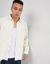 ASOS | Светло-бежевая рубашка навыпуск ASOS DESIGN - Кремовый | Clouty